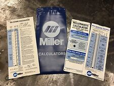 *Metric* Miller Electric Millermatic Calculator Metal Arc Mig Tig Stick 211600