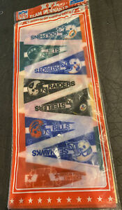 1980's SEALED NFL MINI 16 PENNANT SET~STEELERS~RAIDERS ALL AFC w/CONFERENCE/NFL