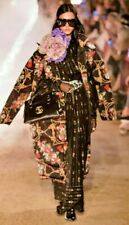 GUCCI Oversize Padded Cape Coat Jacket with Flowers and Tassels IT 40 UK 10 12