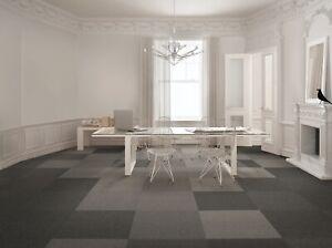 Brand New Opposite Boxed Carpet Tiles Black & Anthracite - 20 tiles/5SQM £24.99!