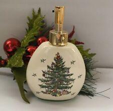 Spode Soap Pump Dispenser Christmas Tree Ceramic Bath Powder Room