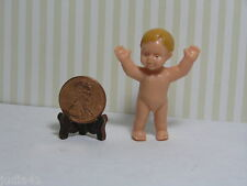 Miniature Dollhouse Naked Baby Boy Standing