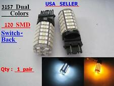 4x  3157 120 -3528SMD LED Switchback Dual colors  Amber  White LED