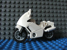 Lego white Police Bike Motor cycle Ideal for MOCs Motorbike Motorcycle Set