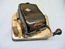 Antique Safe-Guard Check Writer Model S Black Steel Crank Brass