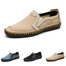 Mens Slip on Loafers Shoes Driving Moccasins Mesh Breathable Flats Walking New L
