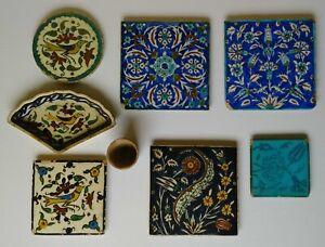 1930-40 Armenian Ceramic Tiles Ohannessian Jerusalem Pottery Palestine Iznik Art