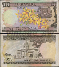 1972 SINGAPORE ORCHID $25.00 HSS W/SEAL A/16 359071 P-4 VF