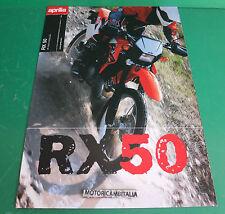 APRILIA RX 50 depliant MOTO RX50 BROCHURE CATALOGO PIEGHEVOLE CATOLOGUE KATALOG