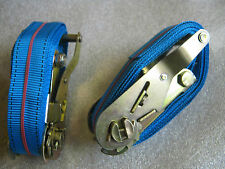 Heavy Duty Ratchet Straps 2 of  2.5m long, 35mm wide. 400kg. Used once