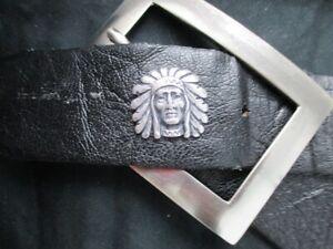Nietconcho Indianer Häuptling Kopf altsilber