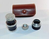 Vintage Kern Paillard YVAR Lens,1:2.8,  F 36mm (6) Laether Case