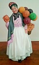 "Royal Doulton Figurine Biddy Pennyfarthing HN 7843 8.5"" Tall Balloon Lady"