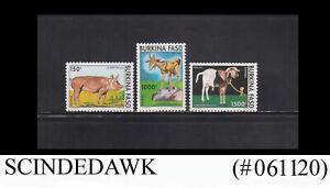 BURKINA FASO - 1994 DOMESTIC ANIMALS - 3V - MINT NH