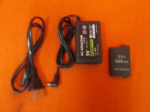Home Travel Wall AC Charger And Battery Pack For Sony PSP 2000 And PSP 7038