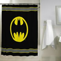 "Batman Kids Bathroom Decorative Fabric Shower Curtain, 72"" x 72"""