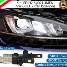KIT LED H7 VW GOLF 7 VIII LUCI DI SVOLTA 6400 LUMEN 6000K PER FARI BIXENON