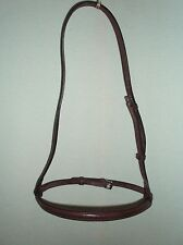 "Brown English Leather Raised Cavesson Noseband Cob Size - 1/2"" Wide"