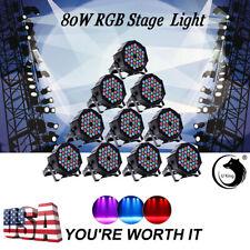 U`king 10PCS 80W RGB 36 LEDs Stage Lighting DMX512 Par Can Fixture Party Club DJ