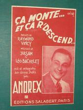 """Partition Chant """"ça monte et ça redescend"""" JULSAM BACHELET VINCY"""