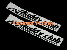 "2x 12"" 30.5cm Buddy Club Decal Sticker for civic EG EK si ferio DC5 DC2 rsx fd2"