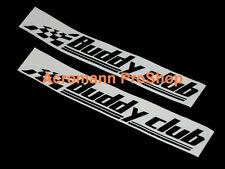 """2x 12"""" 30.5cm Buddy Club Decal Sticker for civic EG EK si ferio DC5 DC2 rsx fd2"""