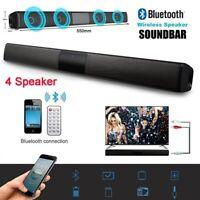 Sound Bar Wireless Bluetooth 4.2 TV Stereo Speaker With Radio FM/3.5 mm AUX in
