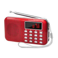 Retekess Portable FM/AM Radio Digital Tuning MP3 Player Flashlight Rechargeable