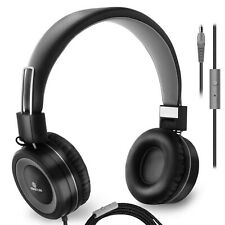 Sonitum On Ear Headphones with Microphone, Wired Head Phones with Volume . New