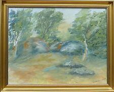 Mderne Art-expressive paysage-peinture huile signée Berit gänsler