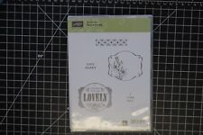 Stampin Up retired stamp set You're Lovely wood mount New