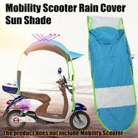 Universal Motor Scooter Blue Umbrella Mobility Sun Shade Rain Cover Safe 2 Type