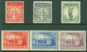 EDW1949SELL : AUSTRALIA Scott #141, 50-51, 63-5. 3 Better VF MOGH sets. Cat