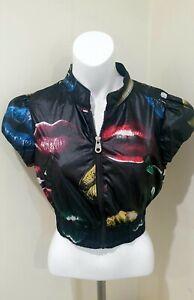 Miss Sixty Collection Lip Print Short Sleeve Jacket Size Medium