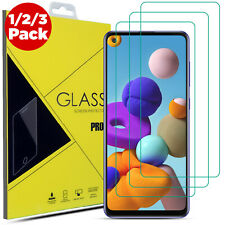 Tempered Glass Screen Protector For Samsung Galaxy A21s A51 A41 A71 A10 - 3 Pack