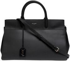 Saint Laurent YSL Sac De Jour Black Carryall Grained Leather Bag