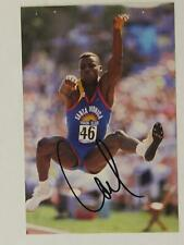 CARL LEWIS 9 time GOLD MEDALIST SUMMER OLYMPICS AUTOGRAPH PHOTO~HC312
