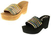 Womens Ladies Rocket Dog Platform Wedge Fashion Sandals UK Size 3 4 5 6 7 8
