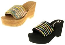 Womens Ladies Rocket Dog Platform Wedge Fashion Sandals UK Size 3 4 5 6 7 8