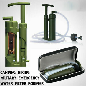 Portable Soldier Water Filter Purifier for Hiking Camping Fishing Outdoors Trip