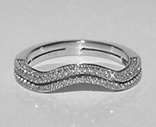 Vintage PLATINUM Round Diamond GUARD Wrap/Guard/Jacke Estate Ring Band Size 4.75