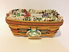 Longaberger 1998 Autumn Bakers Bounty Basket w Protector Liner Tie-On