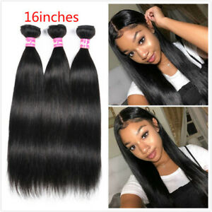 Straight Hair 3 Bundles Malaysian Remy Human Hair Weaves Extensions 150G Weft