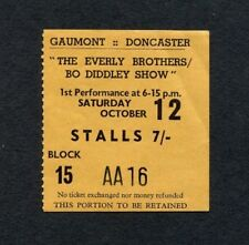 1963 Rolling Stones Everly Brothers Bo Diddley Concert Ticket Stub Doncaster UK
