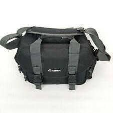 Canon Digital DSLR Camera & Lens Case/Shoulder Bag 3 External Padded Zip Pockets
