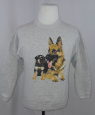 Vintage Tultex German Shepherd Graphic Gray Sweatshirt  Size S