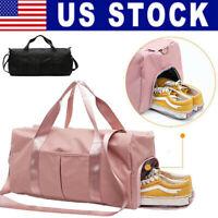 Women Gym Sports Bag Shoulder Bag Hand Luggage Duffel Large Capacity Travel Bags