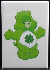 "Shamrock Care Bear 2"" X 3"" Fridge / Locker Magnet. Four Leaf Clover Lucky Irish"