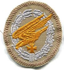 WWII Luftwaffe Fallschirmjager Paratrooper Badge Tropical Afrika Patch Silv/Gold