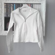 Giacca della tuta da donna bianca con cerniera davanti tg xs tipo bershka h&m